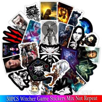 Наклейки Witcher(Ведьмак) 50шт|набор глянец Стикеры винил сет игры!