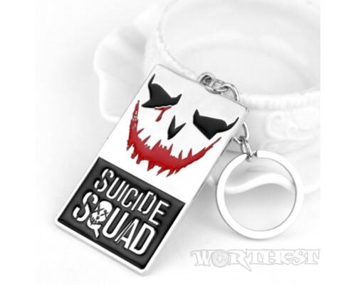 Стальной брелок жетон из комиксов Suicide Squad(Отряд самоубийц)