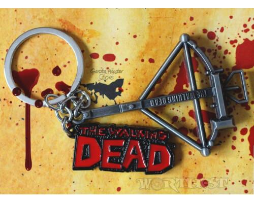 Брелок Walking dead - Logo|Arbalet! Гравировка металлический сериал!