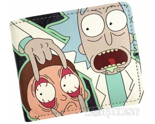 """Кошелек """"Rick and Morty"""" мультфильм Рик и Морти портмоне 2 героя!"""