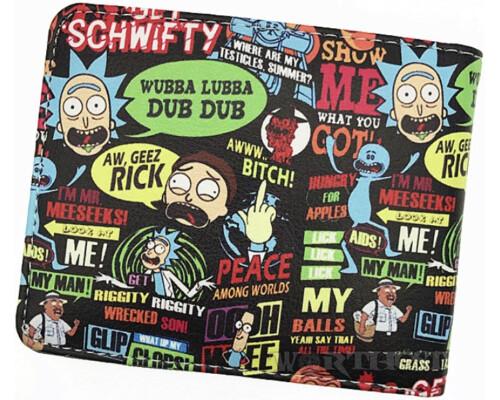 """Кошелек """"Rick and Morty"""" мультфильм Рик и Морти портмоне много героев"""