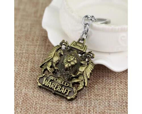 Брелок Warcraft Альянс|Alliance золотистый варкрафт World of Warcraft