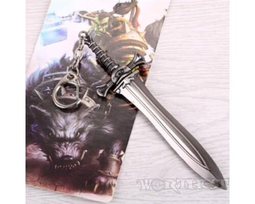 Брелок World of Warcraft металлический Одноручный Меч, клинок из Вовки оружие